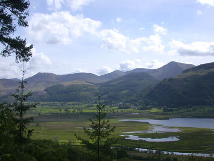 Skiddaw from the shore of Bassenthwaite